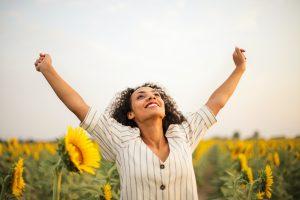 foto vrouw Doelen bereiken en goede voornemens volhouden