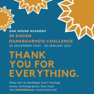 Oak House Academy 30 dagen dankbaarheidchallenge